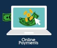 网上付款象 免版税库存图片