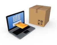 网上购物概念。 免版税库存图片