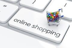 网上购物概念 库存例证