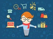 网上购物的过程 图库摄影