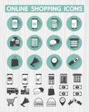网上购物象为网接口,流动应用设置了 库存例证