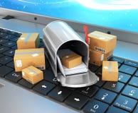 网上购物,在网上购物, 皇族释放例证