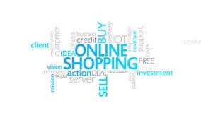 网上购物,生气蓬勃的印刷术 向量例证