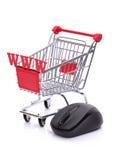 网上购物 免版税库存照片