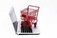 网上购物 库存照片