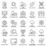 网优化,营销现代SEO等高象  免版税库存图片