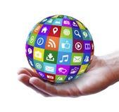 网和互联网社交媒介 免版税图库摄影