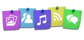 网和社会媒介概念 免版税库存图片
