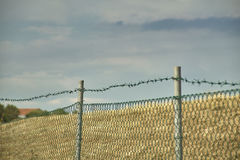网和铁丝网 库存照片