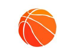 网在白色背景隔绝的传染媒介篮球 向量例证