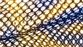 网抽象纹理与六角细胞的 免版税库存照片