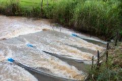 网捉住更多水流量 库存照片