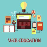 网教育平的概念 免版税库存图片