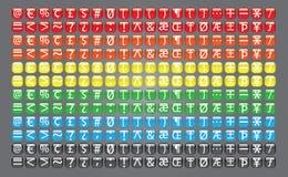 网标志按钮汇集 库存例证