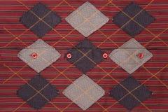 网格红色纹理 库存照片