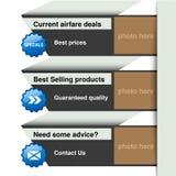 网模板-横幅,网站布局 库存例证