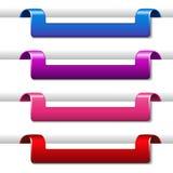 网模板- 4步,选择,横幅 库存例证