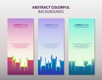 抽象五颜六色的横幅 皇族释放例证