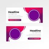 网横幅平的设计颜色 免版税图库摄影
