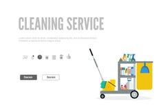 网横幅或礼品券模板清洁服务的 库存图片