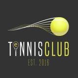 网球俱乐部传染媒介商标 免版税库存图片