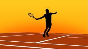 网球动画 股票视频