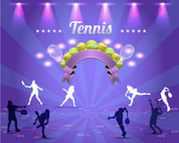 网球发光的背景 库存照片
