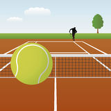 网球向量 库存照片