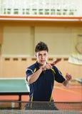 年轻网球员 库存照片