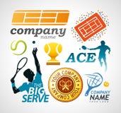 网球商标设计元素 免版税库存图片
