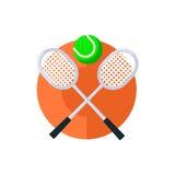 网球圆的贴纸 免版税库存照片
