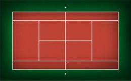 网球场的例证 免版税图库摄影