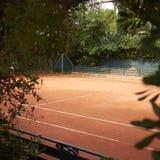 网球场的看法 免版税图库摄影