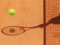 网球场网和球拍(28) 库存照片