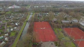 网球场鸟瞰图,兹韦恩德雷赫特,荷兰 影视素材