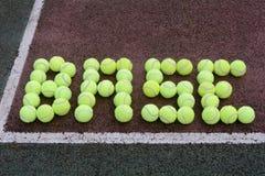 网球基础线 库存照片