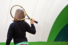 网球学校 免版税库存照片
