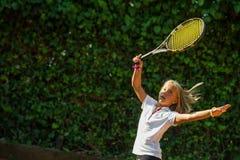 网球学校 免版税库存图片