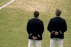 网球官员 免版税库存图片