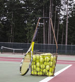 网球实践 库存图片
