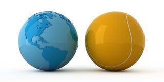 网球宽世界 免版税库存图片