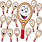 网球拍动画片 免版税库存照片
