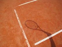 网球拍影子2 免版税库存图片