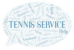 网球服务词云彩 向量例证