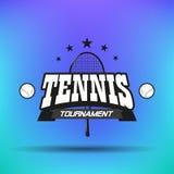 网球标签和徽章 免版税图库摄影