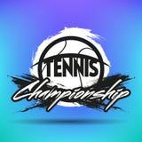 网球标签和徽章 免版税库存照片