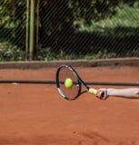 网球正手击球 库存图片