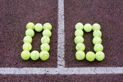 网球比分 免版税图库摄影