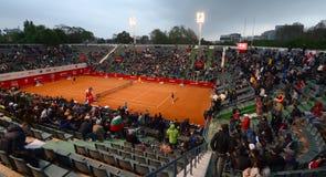 网球比赛-格里戈尔・季米特洛夫对Sergiy Stakhovsky 库存图片