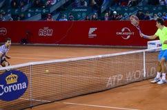 网球比赛-格里戈尔・季米特洛夫对Sergiy Stakhovsky 免版税图库摄影